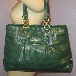 Coach EXOTIC CROC Leather ALEXIS Tote F20345
